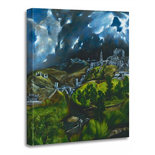 TORASS Canvas Wall Art Print Sky El Greco View of Toledo Painting Artwork for Home Decor 12