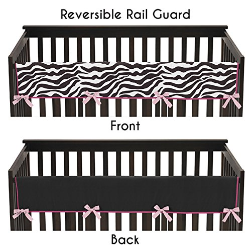 Sweet-Jojo-Designs-Pink-and-Zebra-Animal-Print-Long-Front-Rail-Guard-Baby-Teething-Cover-Crib-Protector-Wrap