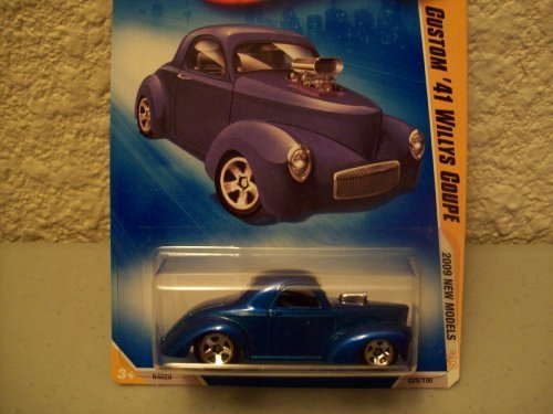 Hot Wheels 2009 New Models Blue Custom 41 Willy's Coupe 1:64 Scale ()
