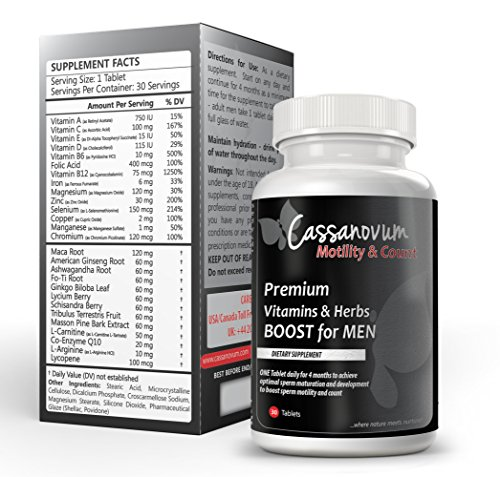 and Count - Premium Vitamins & Herbs BOOST for MEN complete spectrum of nutrients proven to be beneficial for male fertility. ()