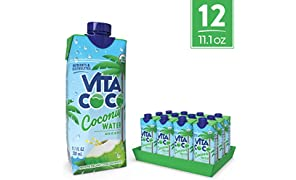 Vita Coco Coconut Water, Pure Organic   Naturally Hydrating Electrolyte Drink   Smart Alternative To Coffee, Soda, & Sports Drinks   Gluten Free   11.1 Oz (Pack Of 12)