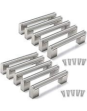 Yorbay 10 Packs Kast Handvatten Keuken Kast Handvatten Geborsteld Rvs Meubeldeur Lade Knop T Bar Trekt Zilver Herbruikbaar
