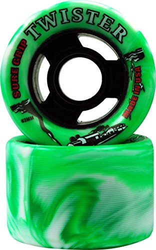 Sure-Grip Twister Wheels - green/white by Sure-Grip