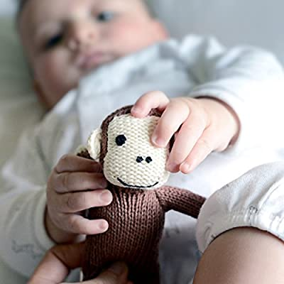 Organic Monkey Baby Rattle - First Toys: Everything Else