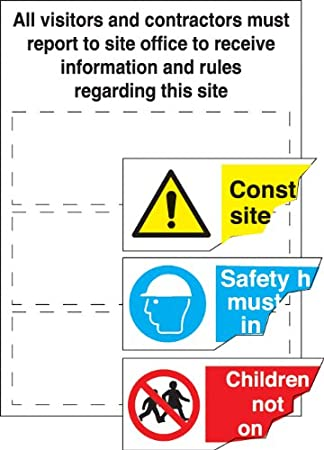 Template For Construction Site Safety Visitor Instructions Sign