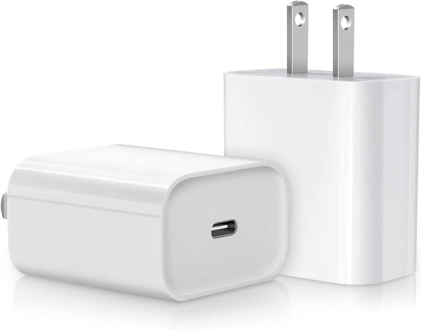 iPhone Fast Charger, 2-Pack 20W USB C Fast Wall Charger for iPhone 12/12 Mini/12 Pro/12 Pro Max/11 pro max, iPad Pro 2020, Google Pixel 4/3