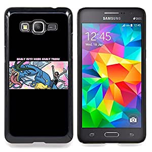 "Qstar Arte & diseño plástico duro Fundas Cover Cubre Hard Case Cover para Samsung Galaxy Grand Prime G530H / DS (Manly Cosas"")"