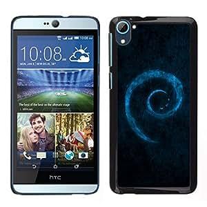 EJOY---Cubierta de la caja de protección para la piel dura ** HTC Desire D826 ** --Blue Swirl