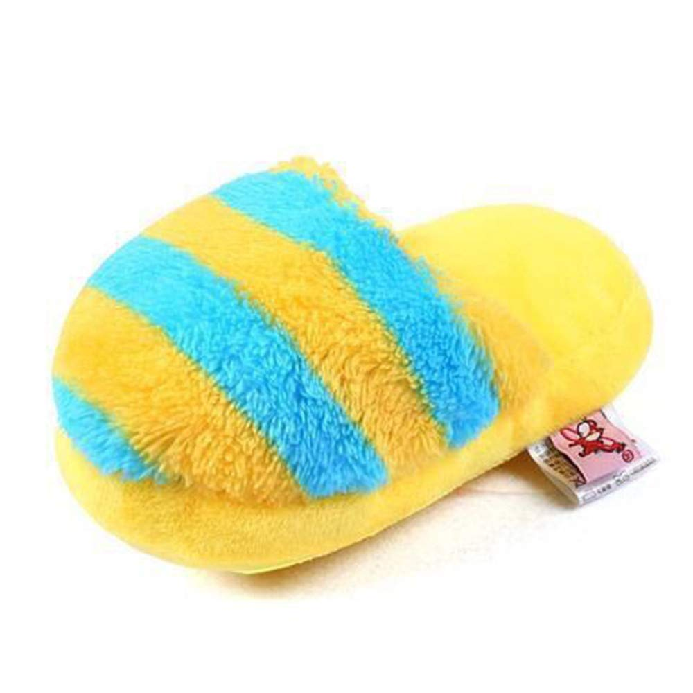 Ogquaton Creativo Zapatillas de Felpa Forma Sonido Masticar Juguete para Perros Gatos Cachorro Dientes Juguetes de Limpieza Suministros para Mascotas Azules