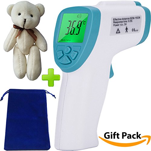Baby Forehead Thermometer for Kids - Gift Bear Set Non-Contact Infrared Fast and Accurate Digital Temperature Check Fever for Infants Children or Adults Plus Measure Body Temp by Armstrong Amerika