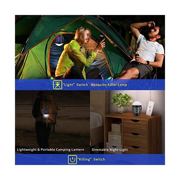 mimoday Lampada Antizanzara Elettrica per Esterno, 2-in-1 Trappola per Zanzare Lanterna da Campeggio Lampada da Tenda… 5 spesavip