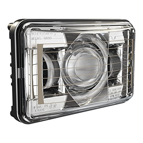 Single Sealed Beam - JW Speaker Model 8800 Evo2 Single Low Beam LED Headlight with Chrome Bezel and Heated Lens