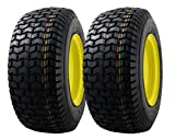 #10: MARASTAR 21456-2pk Front Tire Assembly Replacement for John Deere Riding Mowers, Black/Yellow