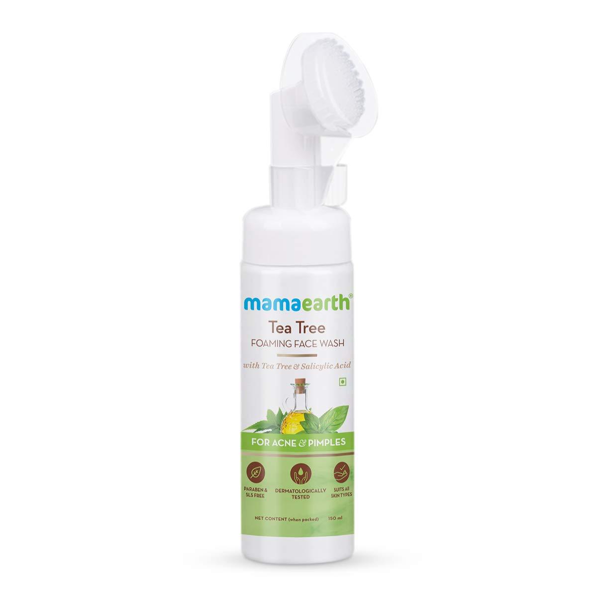 Mamaearth Tea Tree Foaming Face Wash with Tea Tree & Salicylic Acid for Acne & Pimples
