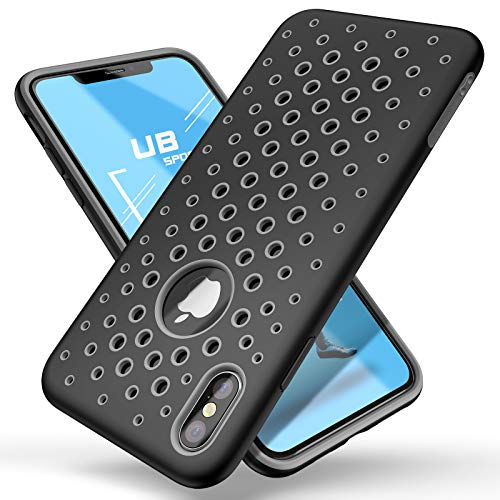 (SUPCASE Unicorn Beetle Sport Series Case for iPhone Xs Case 2018 Release Liquid Silicone Rubber TPU Premium Hybrid Case [Hole Pattern] with Heat Dissipation)