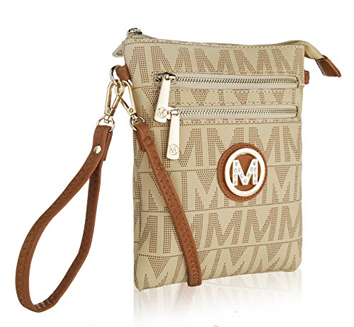 by ��M�� Signature Farrow Mia K Milan Collection MKF Crossbody Beige Charley YwPxBntT