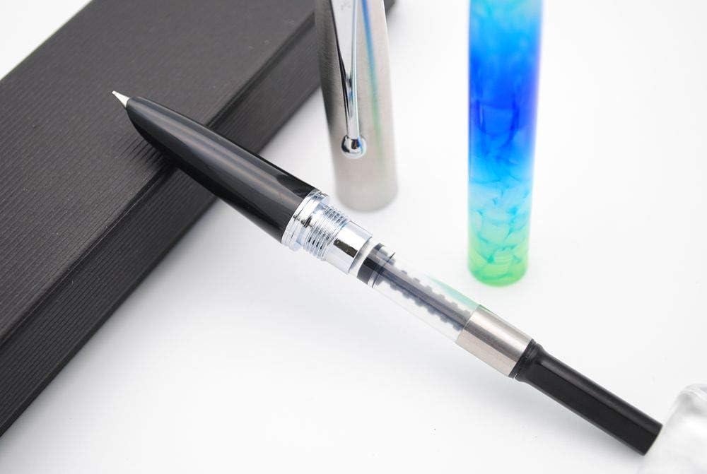 color Gray Marble Extra Fine Nib 0.38mm Pluma estilogr/áfica JINHAO 51A acr/ílico, tapa de acero