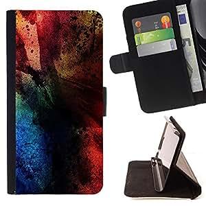 For Apple iPhone 5C,S-type Colores- Dibujo PU billetera de cuero Funda Case Caso de la piel de la bolsa protectora