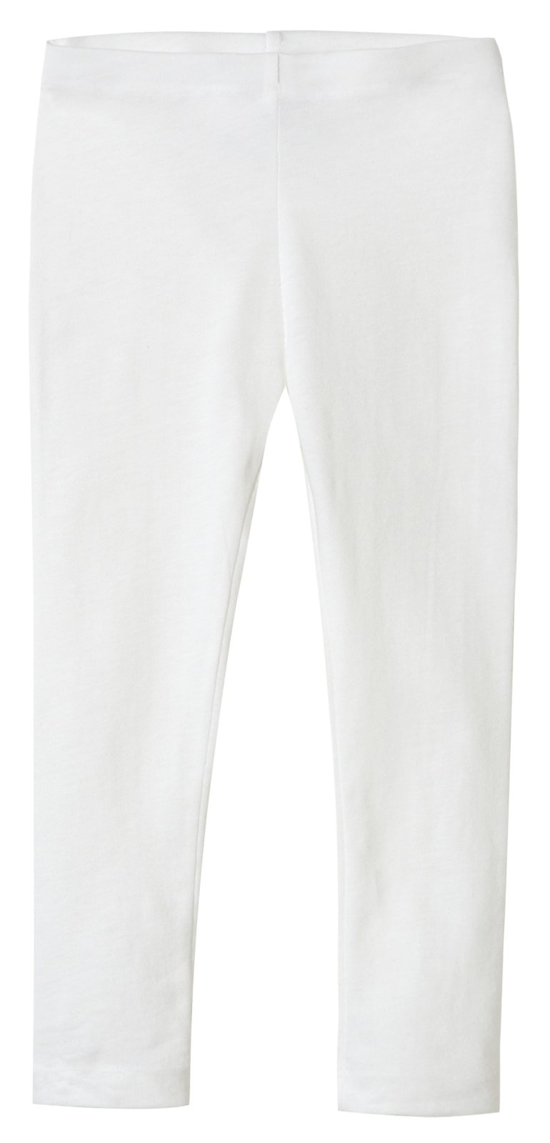 City Threads Girls' Leggings 100% Cotton for School Uniform Sports Coverage or Play Perfect for Sensitive Skin or SPD Sensory Friendly Clothing, White, 7