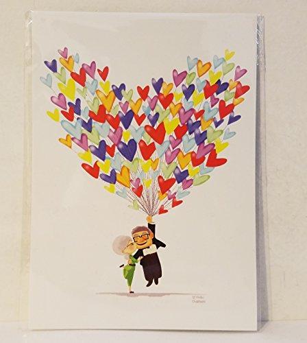 (Disney Wonderground Gallery Carl & Ellie Up Love Adventure Postcard by Nidhi Chanani)