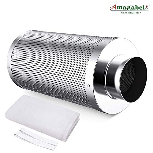 Amagabeli 4 inch Carbon Filter Odor Control 4 in Air Scrubber with...