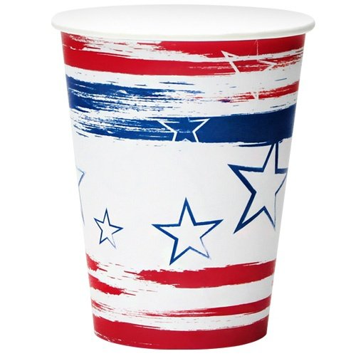 Nicole Home Collection Stars N' Stripes Paper Cup, 12-Ounce