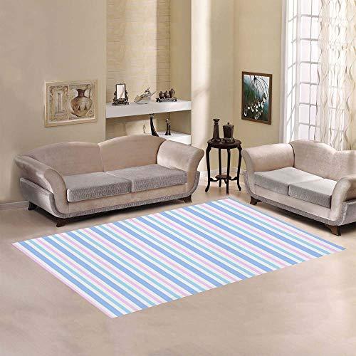 Price comparison product image Bright Color Stripe Large Custom Non-Slip Modern Floor Area Rug Pad Mat Oriental Commercial Carpet for Basement Bedroom Living Room Kitchen Home Decor 5' X 7' Indoor