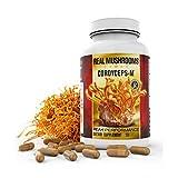 Organic Cordyceps Mushroom Capsules by Real Mushrooms - 120 Capsules of Extract Powder