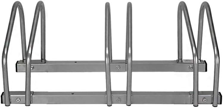 LARS360 Bicicleta Soporte para 3 bicicletas de suelo y pared montaje más soporte Triple Twin Bicycle Stand