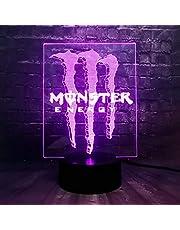 Creatieve illusie RGB US Energy Drink Logo Acryl Glans 7 Kleur USB Opladen Decor Tafel Nachtstemming Licht Vakantie Vrienden Gift