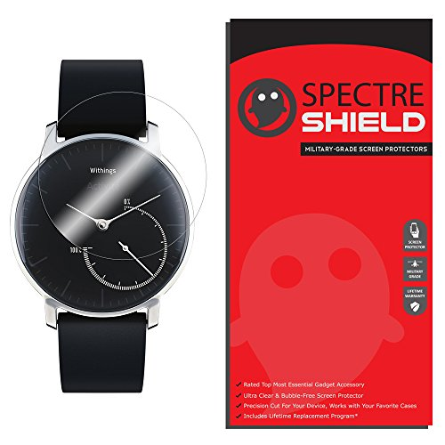 Price comparison product image Withings Activite Steel Screen Protector [6-PACK], Spectre Shield Full Coverage Invisible HD Clear Anti-Bubble [Lifetime Replacements]