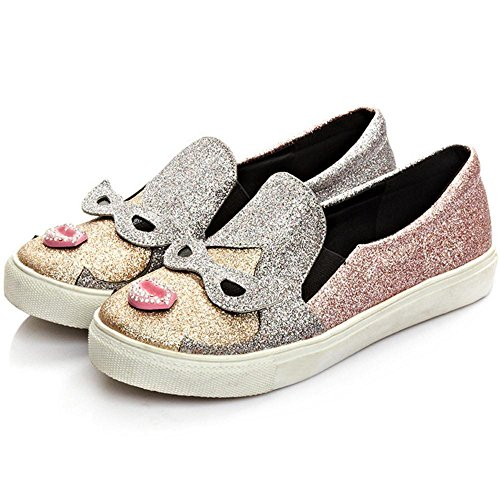 Canvas Shoes Slip Pink On Women AicciAizzi Z7zwTSqf