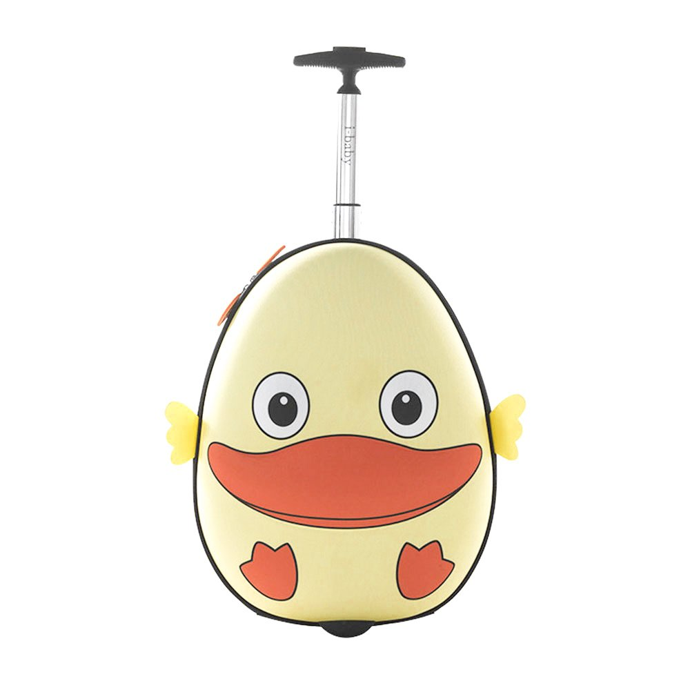i-baby 3D Animal Kids Rolling Luggage Toddler Waterproof Travel Suitcase Carry On Baby Suitcase 18 Inch Upright Hard Side in Free Gift Package (Light Yellow Duck) Shanghai I-Baby Co. Ltd I63009