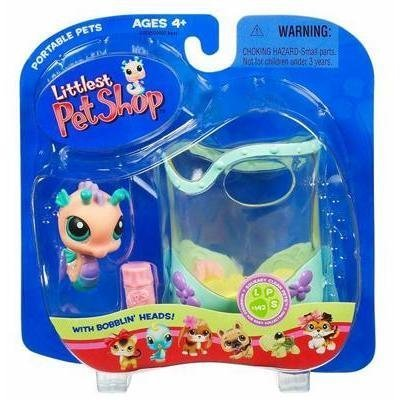 Littlest Pet Shop Pets On The Go Figure Seahorse in Aquarium by Littlest Pet Shop