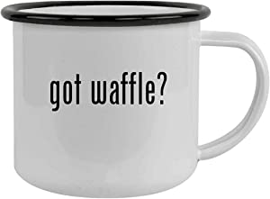 got waffle? - Sturdy 12oz Stainless Steel Camping Mug, Black