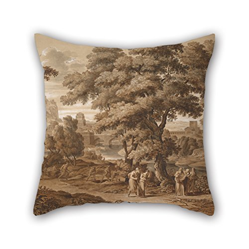 Artistdecor Oil Painting Joseph Anton Koch - Oedipus And Antigone Leave Thebes, 1797 Throw Pillow Covers 18 X 18 Inches / 45 By 45 Cm For Gf,divan,festival,kids Boys,drawing Room,girls With Twice S ()