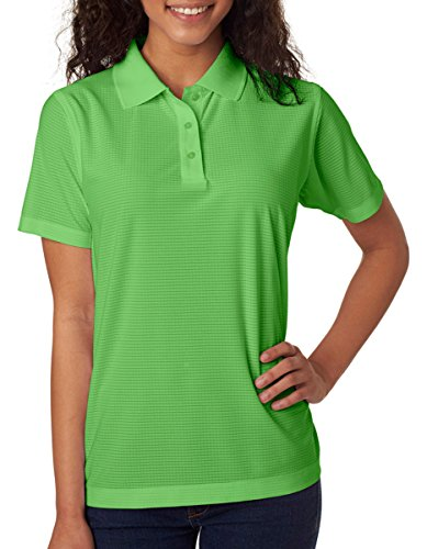 UltraClub Ladies Cool & Dry Box Jacquard Perfo 8250L -Light Green 2XL