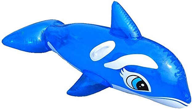 TZTED Flotador Inflable de Piscina 150 cm Delfines Gigante ...