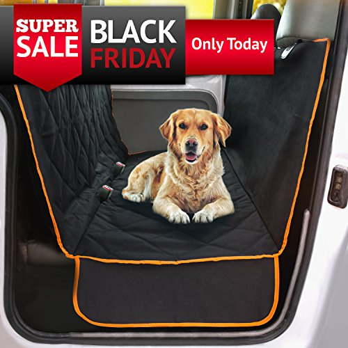Doggie World Dog Car Seat Cover - XL Cars, Trucks and Suvs Luxury Full Protector, w/Extra Side Flaps, Seat Belt Openings - Hammock Convertible for Your Pet - Waterproof, Non-Slip - Machine Washable (Best Cover In The World)