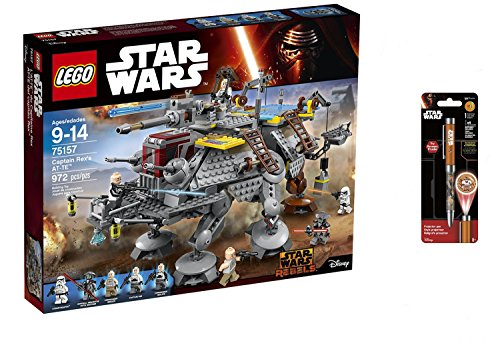 LEGO Star Wars Captain Rex's AT-TE 972PCS & Star Wars Projector Pen, Colors may vary Playsets Building (Halo Lego Falcon)