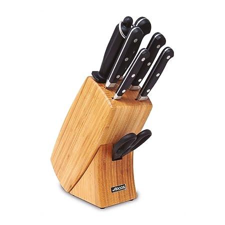 Arcos 854400 - Juego de 7 Cuchillos, de Acero Inoxidable, tamaño Normal, Color Negro
