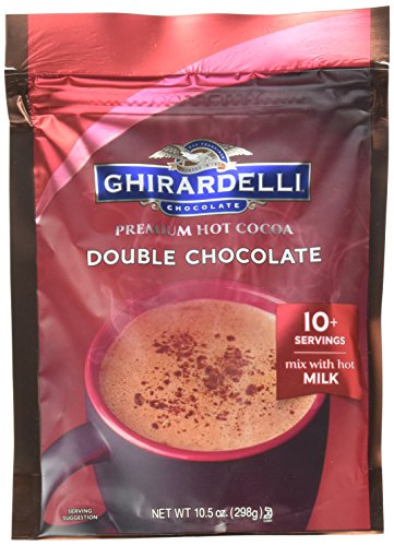 Ghirardelli Double Chocolate Premium Hot Cocoa, 10.5 Ounce - 6 per case.