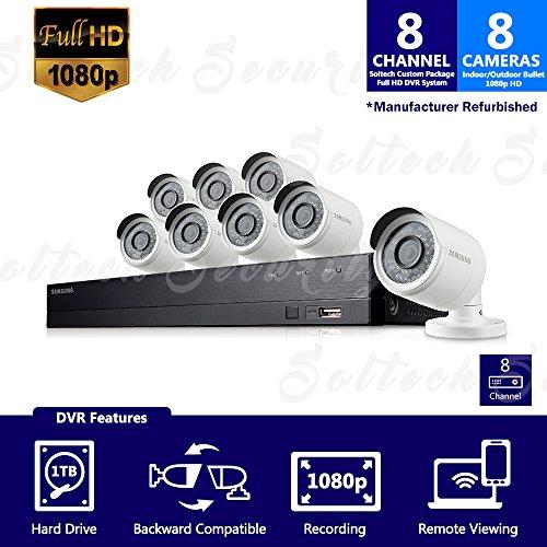 sdh-b74081–1TB–Samsung 8canales 1TB HD 1080P sistema de cámaras de seguridad con 8al aire última...