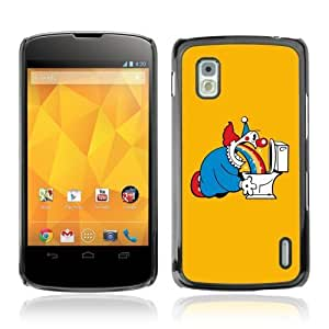YOYOSHOP [Funny Clow & Rainbow] LG Google Nexus 4 Case