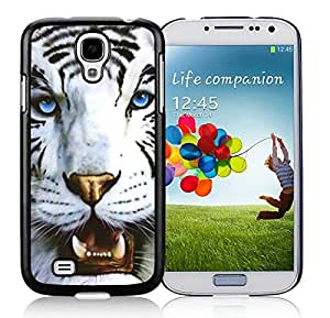 Customizable White Tiger and Blue Eyes S4 Case Mate Best Samsung Galaxy S4 I9500 Case Black Mobile Phone Cover by supermalls