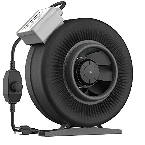 VIVOSUN 6 Inch 440 CFM Inline Duct Ventilation Fan with Variable Speed Controller by VIVOSUN