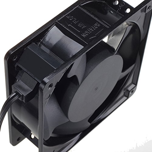 120mm Fan,Zhanye Muffin 1238 AC 120V Computer Axial Cooling Fan, High Speed Exhaust with Metal Net and 4-feet Power Cord by Zhanye (Image #2)