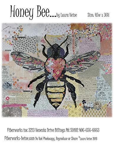Fiberworks LHFWHBEE Honey Bee Collage Pattern