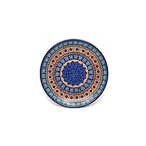 Polish Pottery Plate – Salad/Dessert (7 3/4″) – Aztec Sun
