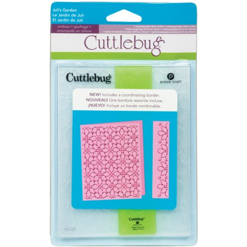 A2 Card Embossing Folder (Cricut Cuttlebug A2 Embossing Folder, Juli's Garden)